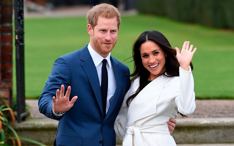 Prince Harry and Meghan Markle will have new titles bestowed upon them when they marry. - POOL DAILY TELEGRAPH