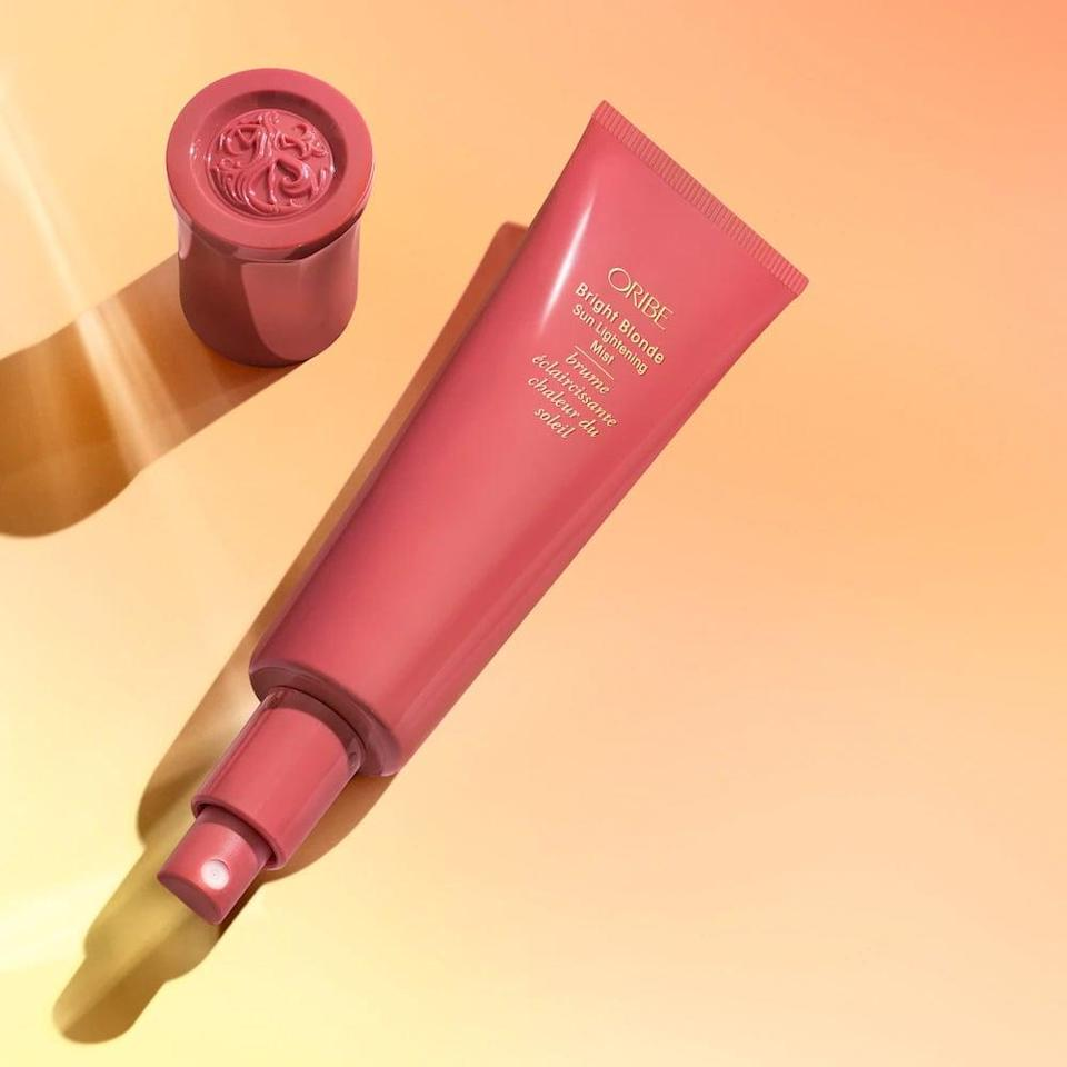 <p>Lighten your hair for the summer with the <span>Oribe Bright Blonde Sun Lightening Hair Mist</span> ($38). </p>