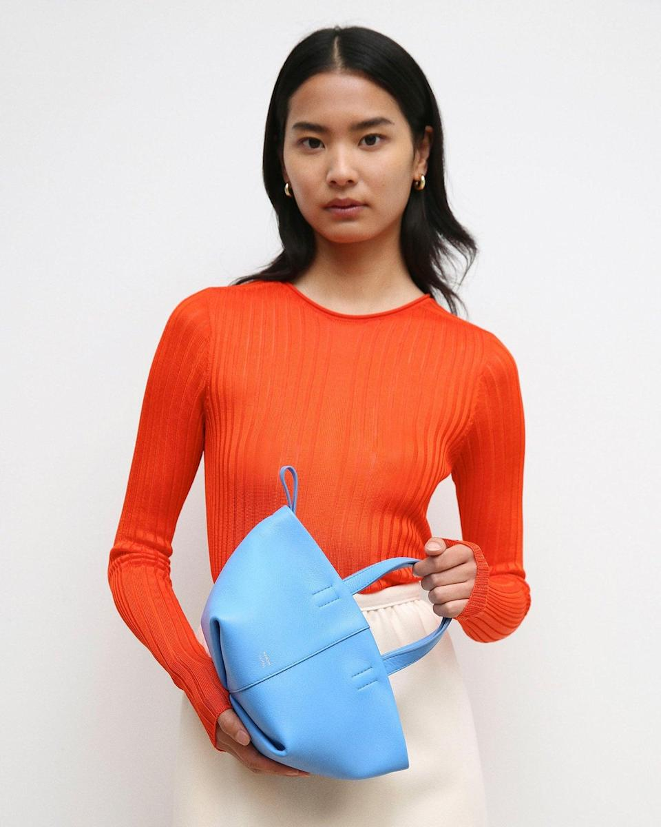 <p>How adorable is this <span>Mansur Gavriel Mini Tulipano Bag</span> ($495)? Plus, it comes with a zip top, and crossbody strap, making it functional too.</p>