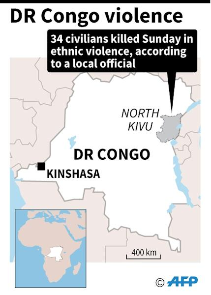 Ethnic violence flares in restive eastern Democratic Republic of Congo (AFP Photo/AFP)
