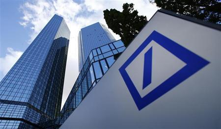 The headquarters of Deutsche Bank are pictured in Frankfurt