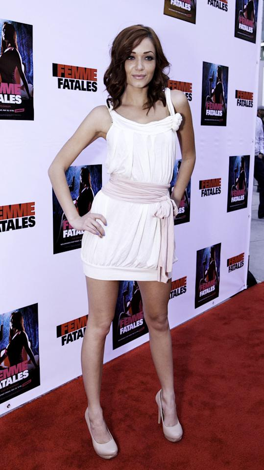 "Sierra Love attends Cinemax's New Series ""Femme Fatales"" - Cast & Crew Screening at ArcLight Hollywood on May 21, 2012 in Hollywood, California."