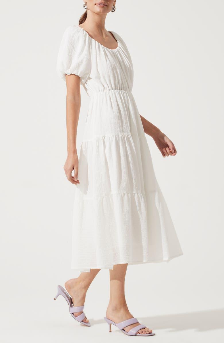 """<h3>ASTR The Label Tiered Short Sleeve Dress</h3><br>True to size, looks great on,"""" wrote EmpressVonTusslebunny in her glowing review of this breezy, summer-ready frock. """"Sometimes, tiered clothing does not do you any favors. This dress is made of a fabric that is heavy enough to drape well when tiered, yet light enough to feel summery. Warning: [it] will make you want to buy new sandals, too!""""<br><br><em>Shop <strong><a href=""""https://www.nordstrom.com/brands/astr-the-label--8653"""" rel=""""nofollow noopener"""" target=""""_blank"""" data-ylk=""""slk:ASTR The Label"""" class=""""link rapid-noclick-resp"""">ASTR The Label</a></strong></em><br><br><strong>ASTR The Label</strong> Tiered Short Sleeve Dress, $, available at <a href=""""https://go.skimresources.com/?id=30283X879131&url=https%3A%2F%2Fwww.nordstrom.com%2Fs%2Fastr-the-label-tiered-short-sleeve-dress%2F5742473%3F%26color%3Dwhite"""" rel=""""nofollow noopener"""" target=""""_blank"""" data-ylk=""""slk:Nordstrom"""" class=""""link rapid-noclick-resp"""">Nordstrom</a>"""