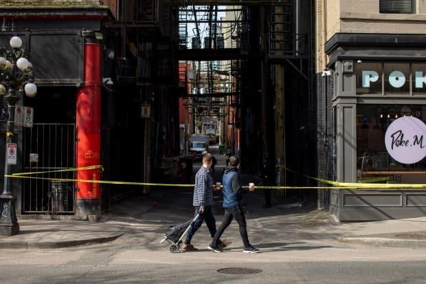 Vancouver police say a woman's shooting death on the city's Downtown Eastside early Wednesday morning is being investigated as a homicide. (Ben Nelms/CBC - image credit)