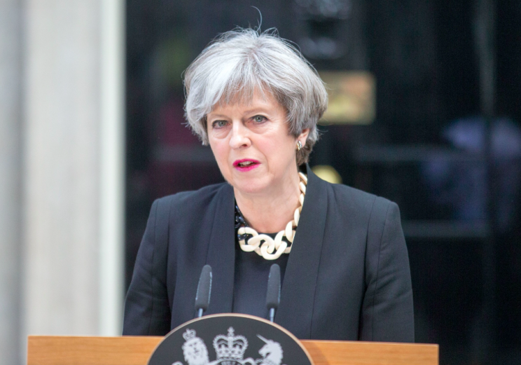 Theresa May said yesterday that 'enough is enough' (Picture: Rex)