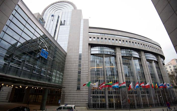 The European Parliament's Brussels seat, where today's vote will be held. The parliament's second seat is in Strasbourg, France. - Eddie Mulholland