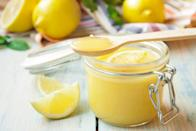 """Lemon curd is lovely on scones, on yogurt, on pancakes. It's also—let's be honest—lovely on a spoon. <a href=""""https://www.epicurious.com/recipes/food/views/lemon-curd-104568?mbid=synd_yahoo_rss"""" rel=""""nofollow noopener"""" target=""""_blank"""" data-ylk=""""slk:See recipe."""" class=""""link rapid-noclick-resp"""">See recipe.</a>"""