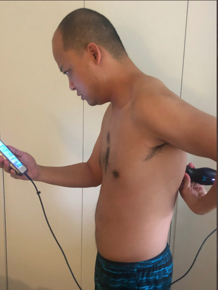 Dr. Yale Tung Chen monitored his symptoms at home while self-isolating after testing positive for the coronavirus. (Dr. Yale Tung Chen via Twitter)