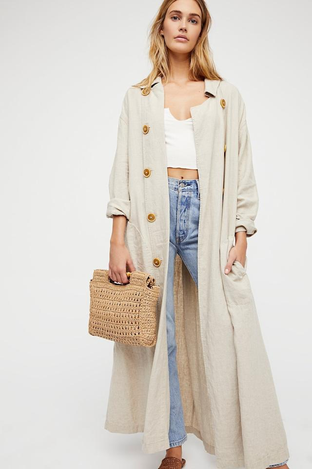 """<p>This <a href=""""https://www.popsugar.com/buy/Sweet-Melody-Trench-Coat-487231?p_name=Sweet%20Melody%20Trench%20Coat&retailer=freepeople.com&pid=487231&price=168&evar1=fab%3Aus&evar9=46575897&evar98=https%3A%2F%2Fwww.popsugar.com%2Ffashion%2Fphoto-gallery%2F46575897%2Fimage%2F46575909%2FSweet-Melody-Trench-Coat&list1=shopping%2Cfall%20fashion%2Ccoats%2Cfall%2Cwinter%2Couterwear%2Cwinter%20fashion&prop13=api&pdata=1"""" rel=""""nofollow"""" data-shoppable-link=""""1"""" target=""""_blank"""" class=""""ga-track"""" data-ga-category=""""Related"""" data-ga-label=""""https://www.freepeople.com/shop/sweet-melody-trench-coat/?category=jackets&amp;color=016&amp;quantity=1&amp;type=REGULAR"""" data-ga-action=""""In-Line Links"""">Sweet Melody Trench Coat</a> ($168) comes in several colors. </p>"""