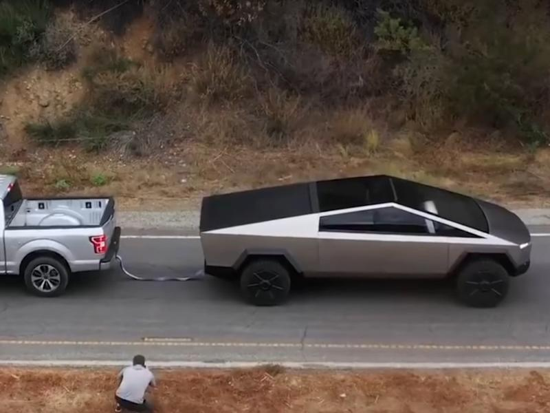 Tesla claims its new Cybertruck electric pick-up can out-tow a Ford F-150: Tesla