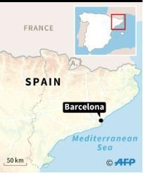 Van hits pedestrians in Barcelona 'terror attack'