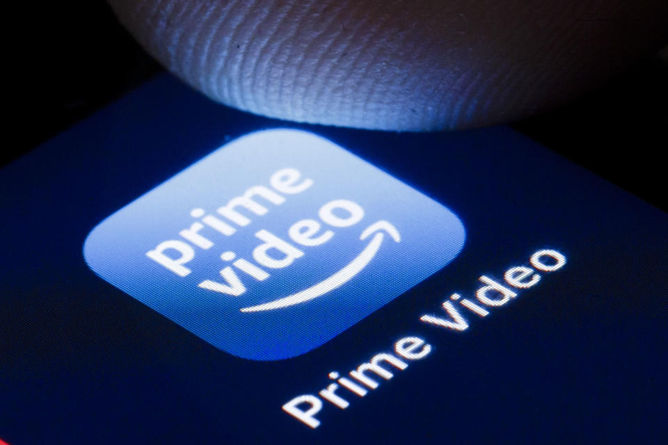 BERLIN, GERMANY - APRIL 22: The logo of the online video library Amazon Prime Video is shown on the display of a smartphone on April 22, 2020 in Berlin, Germany. (Photo by Thomas Trutschel/Photothek via Getty Images)