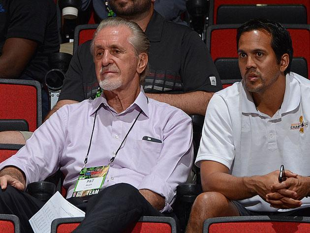 Pat Riley and Erik Spoelstra. (Getty Images)