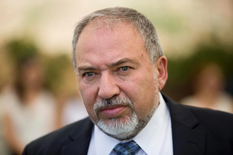 "Israeli Defence Minister Avigdor Lieberman, seen June 2016, reportedly told Israeli media that he hopes the country's right-wing politicians ""have enough sense to stop the jubliation and public enthusiasm"" at Donald Trump's election as US president (AFP Photo/Abir Sultan)"