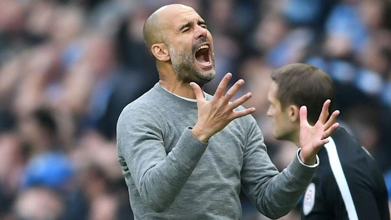 Guardiola frustrated by City's defensive struggles after Manchester derby defeat