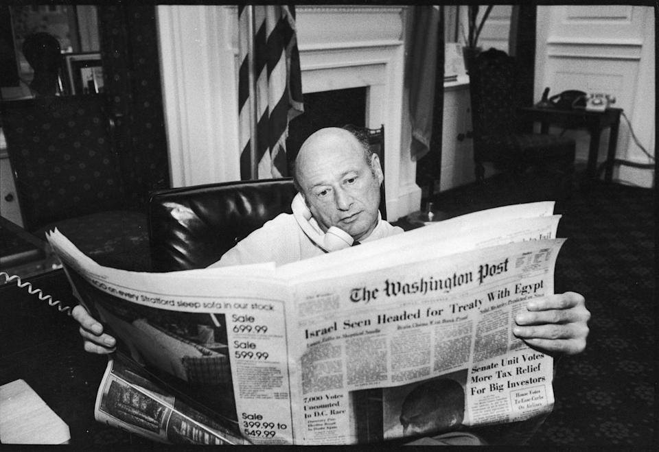 <p>Forget podcasts, newsletters, and digital sites. Back in the '70s, no serious businessperson would start their day without reading the daily paper. </p>