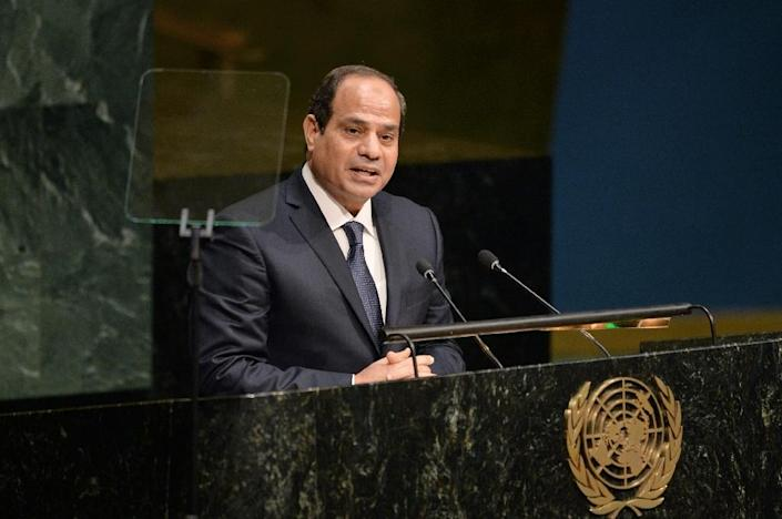 Abdel Fattah Al Sisi, the former army chief who ousted Morsi and then won presidential elections, had promised the parliamentary election as the last stage in a return to democracy (AFP Photo/Dominick Reuter)