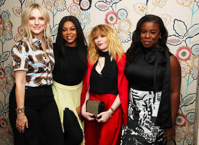 NEW YORK, NEW YORK - FEBRUARY 02: (L-R) Laura Brown, Taraji P. Henson, Natasha Lyonne and Uzo Aduba attend the InStyle Badass Women Dinner Hosted By Taraji P. Henson And Laura Brown on February 02, 2019 in New York City. (Photo by Astrid Stawiarz/Getty Images for InStyle Magazine)   Astrid Stawiarz/Getty Images