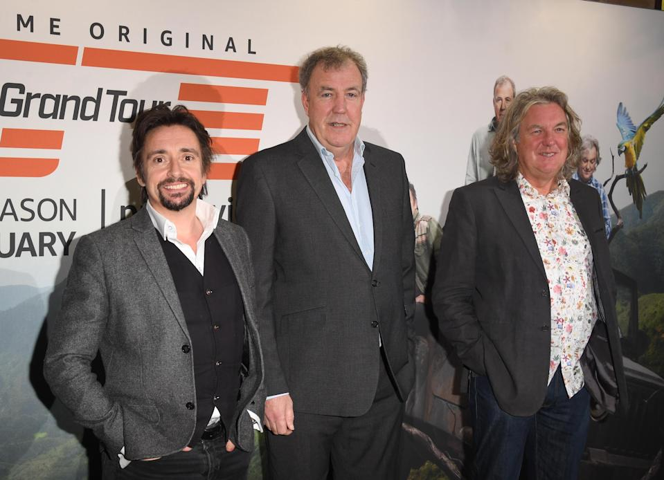 LONDON, ENGLAND - JANUARY 15: Richard Hammond, Jeremy Clarkson and James May attend a screening of 'The Grand Tour' season 3 held at The Brewery on January 15, 2019 in London, England. (Photo by Stuart C. Wilson/Getty Images)