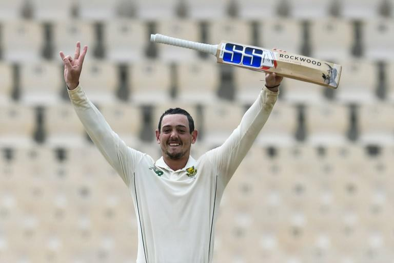 Relieved of the cares of captaincy, Quinton de Kock rediscovered his batting form and reached a century on Friday