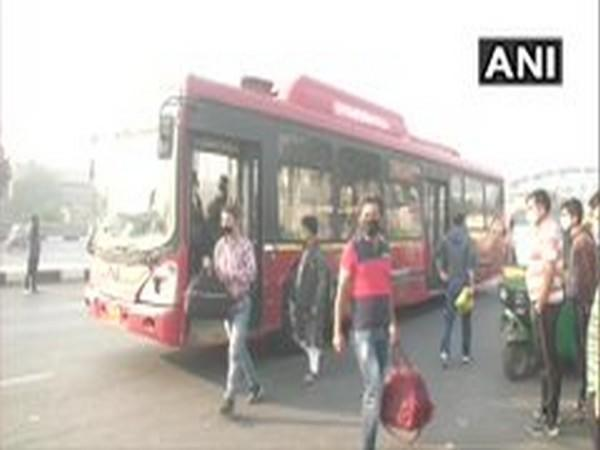 Delhi public buses allow full seating capacity from Sunday. (Photo/ANI)