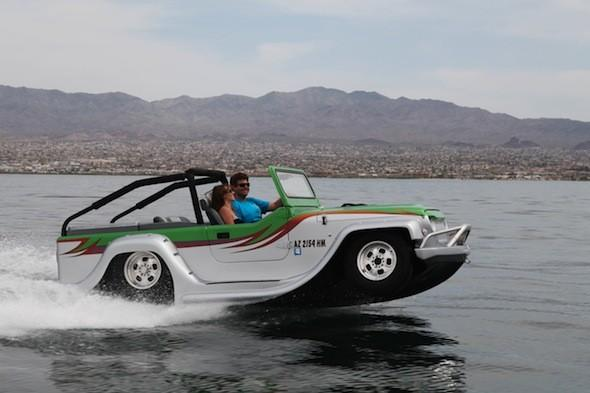 Is it a boat? Is it a Jeep? It's the world's fastest amphibious car
