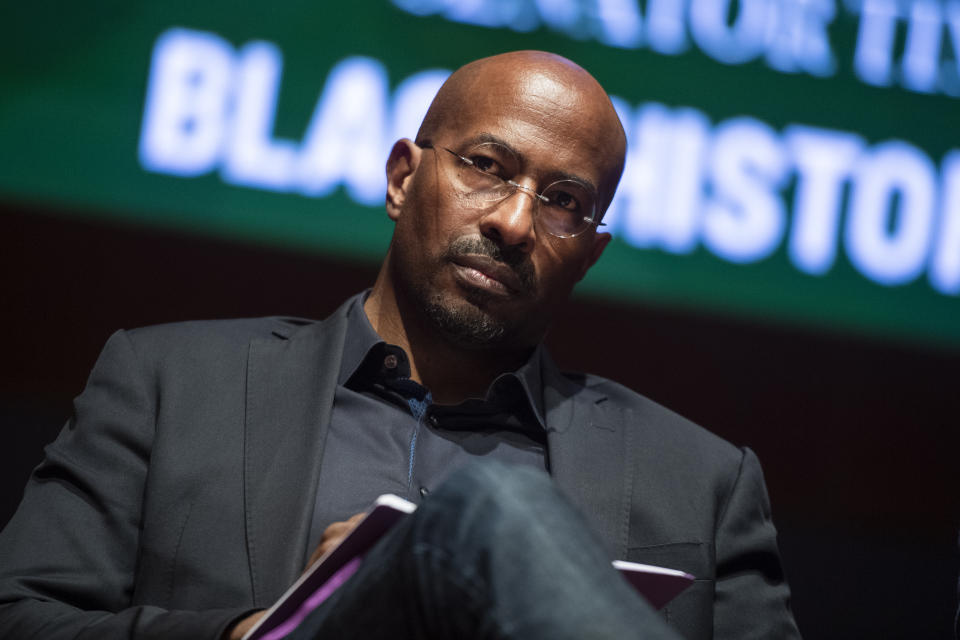 UNITED STATES - FEBRUARY 10: Van Jones, CEO of REFORM Alliance, conducts a discussion on the diversity of thought in the black community, in the Capitol Visitor Center during Black History Month on Monday, February 10, 2020. (Photo By Tom Williams/CQ-Roll Call, Inc via Getty Images)