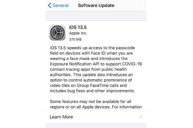 Apple iOS 13.5 Brings Faster iPhone Unlock if You Are Wearing a Mask & Gets New Contact Tracing API
