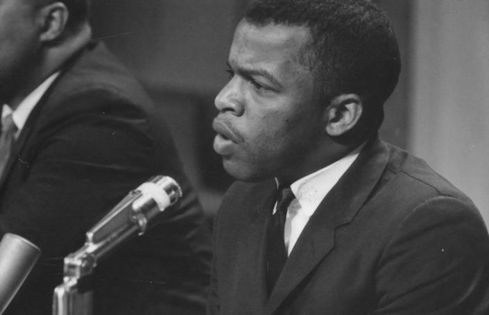 American politician and Civil Rights leader John Lewis speaks at a meeting of the American Society of Newspaper Editors, Washington DC, April 16, 1964. (Photo by Marion S Trikosko/PhotoQuest/Getty Images) (Photo: PhotoQuest via Getty Images)