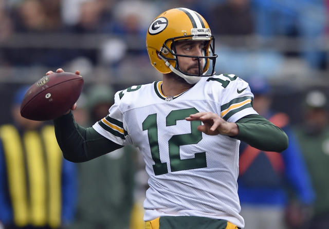 Green Bay Packers quarterback Aaron Rodgers is in line for a lucrative extension. (AP)