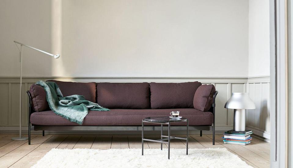 "<p>This is flat-pack furniture, but not as you know it. Easy to assembles at home from three elements – frame, cover and cushions – this design is the brainchild of Ronan and Erwan Bouroullec who wanted to simplify the whole concept of the sofa. From £1,799, <a href=""https://hay.dk/en-gb/hay/furniture/seating-18d7502d/sofa/can-b2b/can-2-seater"" rel=""nofollow noopener"" target=""_blank"" data-ylk=""slk:hay.dk"" class=""link rapid-noclick-resp"">hay.dk</a></p>"