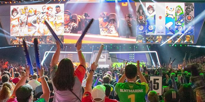 Fans at the Overwatch League Grand Finals