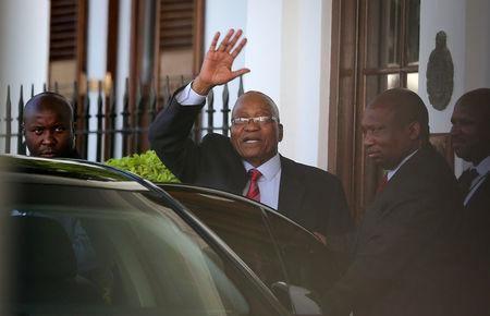 South Africa's Zuma holds talks with likely successor as exit looms