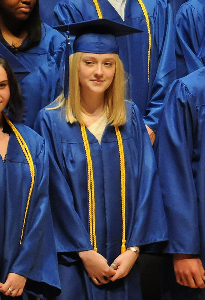 Like the Olsen twins, actress Dakota Fanning also graduated from Campbell Hall High School in Los Angeles. (6/6/2011)