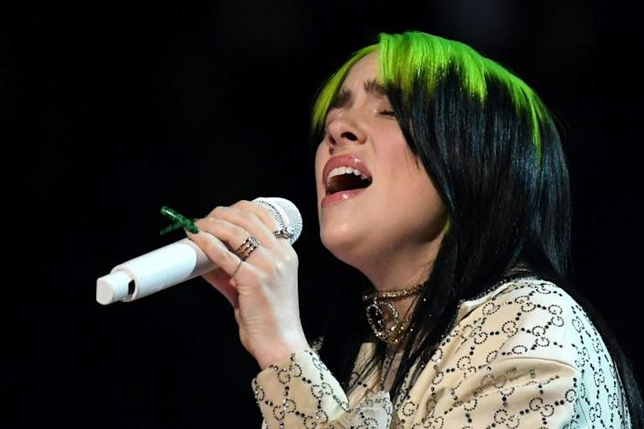 Billie Eilish, the big winner at the Grammys in January 2020, will perform at the Oscars (AFP Photo/Robyn Beck)