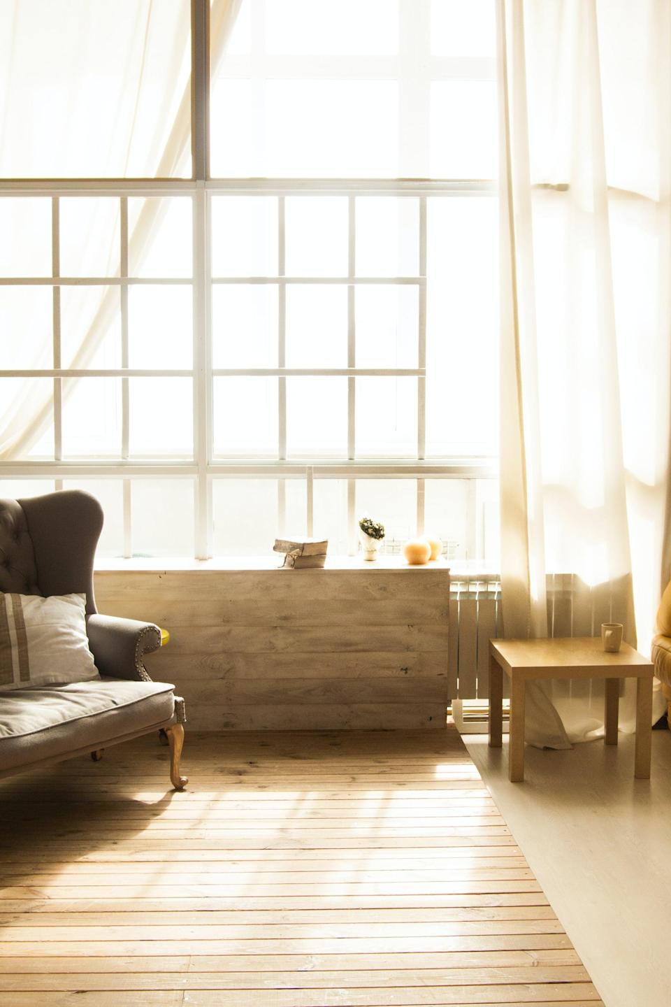 """<p>To make your space even more calming, open the window and let a little natural light in. Natural light can also help <a href=""""https://www.popsugar.com/fitness/how-to-manage-seasonal-depression-in-college-47154195"""" class=""""link rapid-noclick-resp"""" rel=""""nofollow noopener"""" target=""""_blank"""" data-ylk=""""slk:combat seasonal depression"""">combat seasonal depression</a> in the fall and winter.</p>"""
