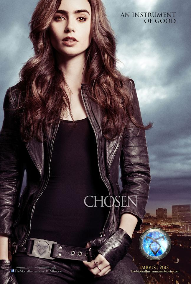 "Lily Collins as Clary Fray in Screen Gems' ""The Mortal Instruments: City of Bones"" - 2013"