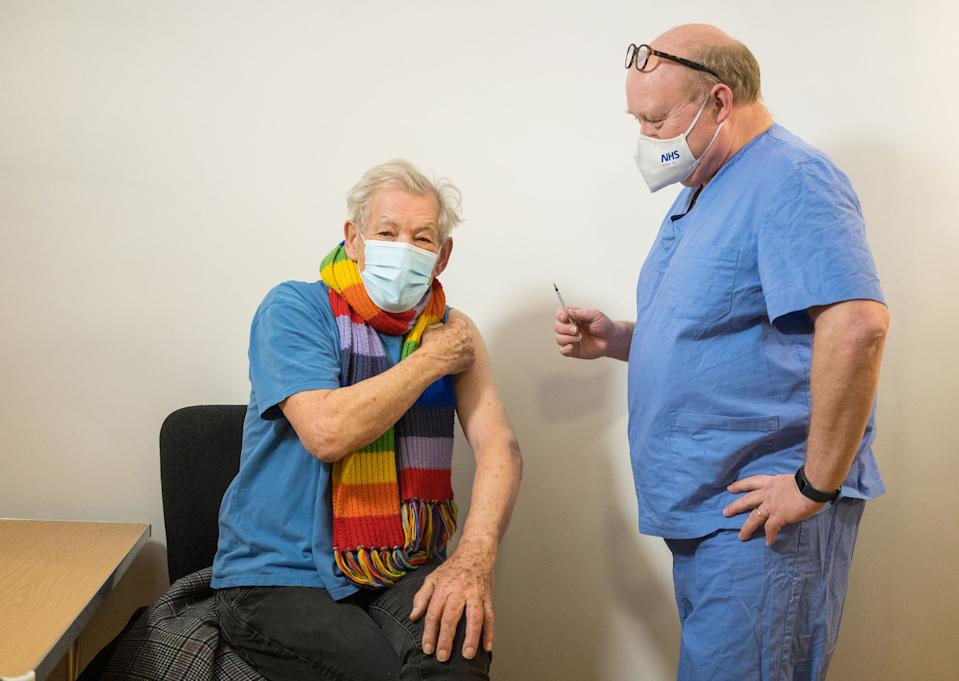 Actor Sir Ian McKellen has Covid-19 vaccine (Jeff Moore/PA)