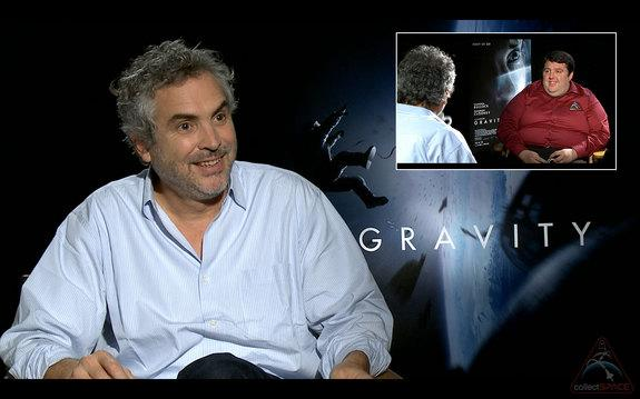 """— Director Alfonso Cuarón told collectSPACE.com editor Robert Pearlman that gravity is a """"major character"""" in his new film """"Gravity."""""""