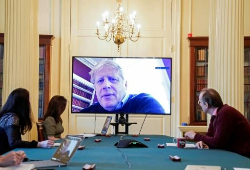 Johnson has had to attend cabinet meetings by videoconference since testing positive for the virus
