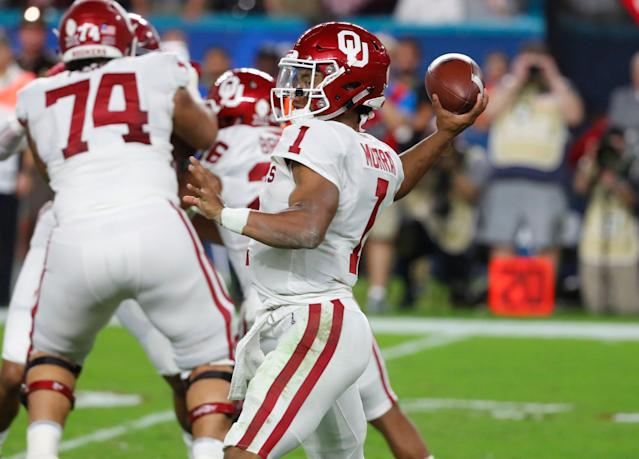 Kyler Murray is the second-straight Oklahoma QB drafted at No. 1. (AP Photo)