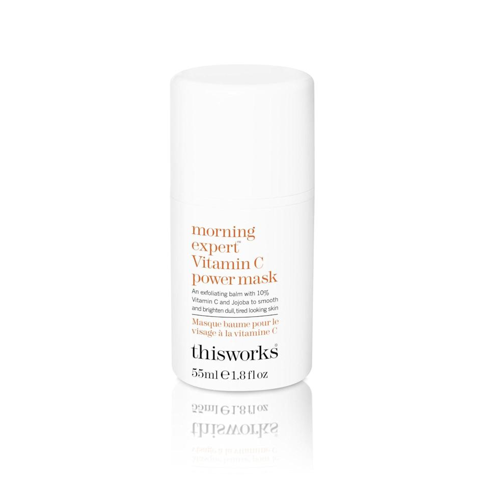 """<p>Got five minutes to spare? That's enough time to reap the brightening benefits of This Works' Morning Expert Vitamin C Power Mask, which is formulated with a 10 percent concentration of vitamin C — plus vitamin E and jojoba oil — to keep your skin looking and feeling its best.</p> <p><strong>$60</strong> (<a href=""""https://shop-links.co/1668379386957137892"""" rel=""""nofollow noopener"""" target=""""_blank"""" data-ylk=""""slk:Shop Now"""" class=""""link rapid-noclick-resp"""">Shop Now</a>)</p>"""