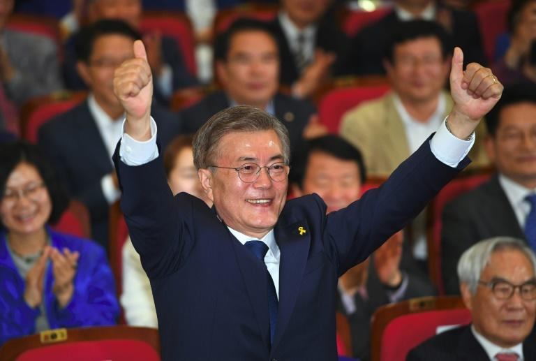 Moon Jae In swept South Korea's presidential elections Tuesday fuelling hopes among investors of an easing in tensions with the NorthMore