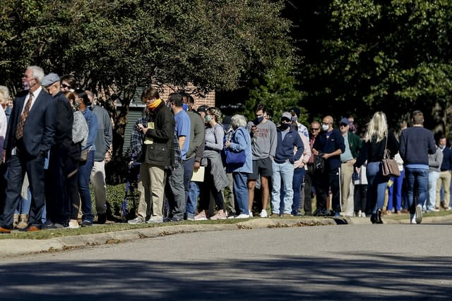 Long queues formed to vote in Auburn, Alabama