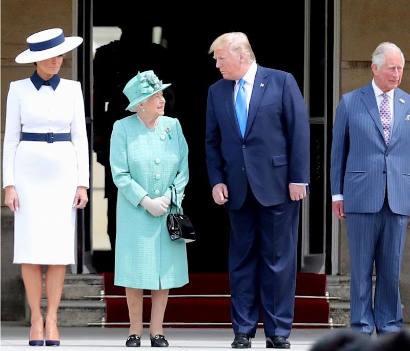 First Lady Melania Trump, Queen Elizabeth, President Donald Trump and Prince Charles | Chris Jackson/Getty
