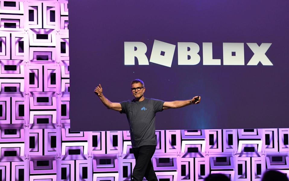 David Baszucki, founder and CEO of Roblox, presents at the Roblox Developer Conference on August 10, 2019 in Burlingame, California - Ian Tuttle/Getty Images North America