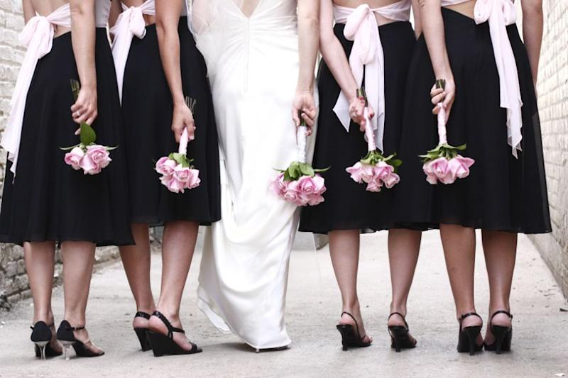 The bridal party can wear black. Photo: Getty Images