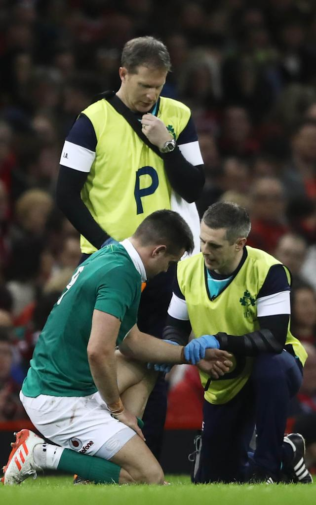 <span>Conor Murray will be a big loss for Ireland today</span> <span>Credit: GETTY </span>