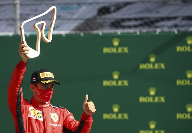 Charles Leclerc finished second in the season-opening Austrian Grand Prix