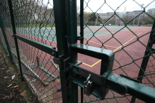 Tennis courts were locked for several months in 2020 because of the coronavirus pandemic